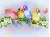 Diamond Painting-Vogels