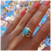 Moonchild Larimar ring - maat 16.00 mm - maat 16.00 mm