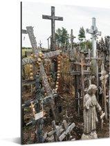Katholieke kruizen op Kruisheuvel noord Litouwen Aluminium 20x30 cm - klein - Foto print op Aluminium (metaal wanddecoratie)