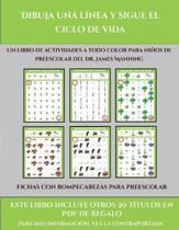 Fichas Con Rompecabezas Para Preescolar (Dibuja Una Linea Y Sigue El Ciclo De Vida)