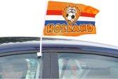 Autovlag Holland Leeuw 30x45cm