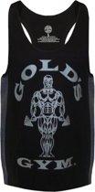 GGVST010 Muscle Joe Tonal Panel Stringer Vest - Black - L