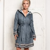 TRUE BANDITS - Hygge Robe Else - Badjas - Blauw - XL/XXL
