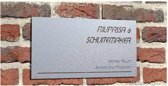 "Geborsteld RVS  316 naambord ""NPLPRO2"""