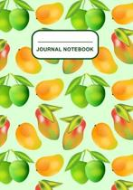 Journal Notebook: Journal, Notebook, Or Diary - Mangos Pattern Cover Design - 120 Blank Lined Pages - 7'' X 10'' - Matte Finished Soft Cov