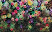 Fotobehang Bloemen, Klassiek | Groen | 312x219cm