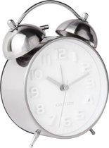 Alarm clock Mr. White - Steel Polished Case