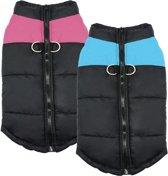 Body warmer voor honden - Honden bodywarmer - Maat L - Zwart met blauw