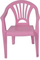 Roze stoeltje voor kinderen - Tuinmeubelen - Kunststof binnen/buitenstoelen voor kinderen