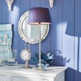 LOBERON Tafellamp Soudron zilverkl./blauw