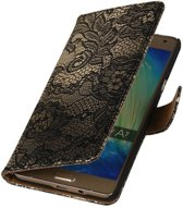 Wicked Narwal   Lace bookstyle / book case/ wallet case Hoes voor Samsung Galaxy A3 (2016) A310F Zwart