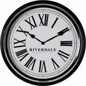 Riverdale Time Wandklok Zwart 52cm