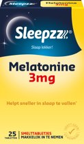 Sleepzz - Melatonine extra forte 3 mg - 25 smelttabletten - Voedingssupplement