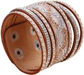 Fako Bijoux® - Armband - Breed - Twist - Beige