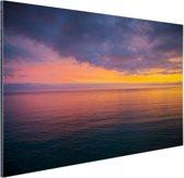 Zonsopkomst over de Middellandse Zee Aluminium 30x20 cm - Foto print op Aluminium (metaal wanddecoratie)