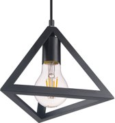 V-TAC VT-7141 Hanglamp - Binnen - E27 - 60W -  Mat Zwart