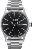 Nixon Sentry SS A3562348 - Horloge - Staal - Zilverkleurig - 42mm
