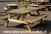Van Talen - Picknicktafel 6-8 personen - Vuren - 160 x 180 cm