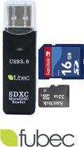 USB 3.0 card reader - SD / Micro SD card reader - Fubec
