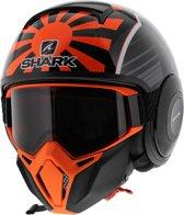 Shark Street Drak Zarco Malaysian Gp Koa Zwart Oranje Antraciet Jethelm - Motorhelm - Maat XL