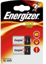 2 stuks Energizer CR123/CR123A battery Lithium 3 V