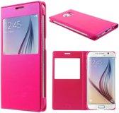Samsung Galaxy S6 Window View Hoesje Roze