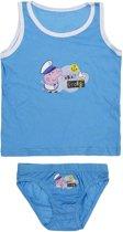 Peppa Pig blauw ondergoedsetje maat 116/128