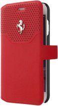 Ferrari 488 Book Case Leer - Rood - voor iPhone 7 en iPhone 8