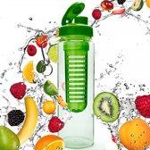 #DoYourFitness - Fruitwater fles - »FruitInfusior« - Fruit infuser voor fruitpunches / groente spritzers - 800ml - groen