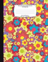 Wide Ruled Composition Notebook. Flowers and Plants Cover. 8.5 X 11. 120 Pages