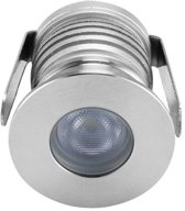 Groenovatie Inbouwspot LED - 3W - Rond - Waterdicht IP54 - 42x30 mm - Dimbaar - Warm Wit