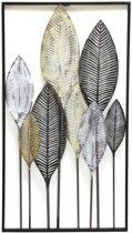 Muurdecoratie XL wanddecoratie bladeren blad vorm thema tuin natuur