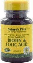 Biotin & Folic Acid, 30 Tablets - Nature's Plus