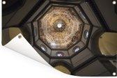 Het plafond van de Dom van Florence in Italië Tuinposter 60x40 cm - klein - Tuindoek / Buitencanvas / Schilderijen voor buiten (tuin decoratie)