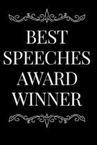 Best Speeches Award Winner