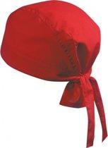 Bandana rode kleur uni 1