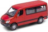 Welly Schaalmodel Mercedes Benz Sprinter Traveliner 1:34 rood 12 Cm