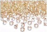 20x Decoratie diamantjes goud 2 cm - Hobby/knutsel materiaal versiering