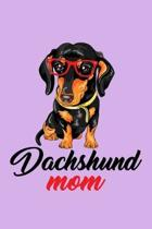 Dachshund Mom: Purple Composition Journal Diary Notebook - For Pet Dog Owners Lovers Teens Girls Students Teachers Adults Moms- Colle
