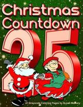 Christmas Countdown - 41 Grayscale Coloring Pages