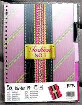 Tabbladen 23R  A4  PP  5-delig Fashion NO.1