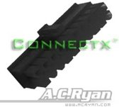 AC Ryan Connectx™ ATX20pin Female - Black 100x Zwart