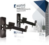 König KNM-SM20 Muur Metaal Zwart speaker steun