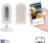 Professionele Draadloze IP Bewakings-camera van SEC24, met ingebouwde noodstroom accu, HD kwaliteit, Streaming via WiFi met App, iCloud of Micro Sd kaart, Waterdicht, voor Indoor en Outdoor gebruik, PIR Detectie, geen verborgen kosten.