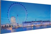FotoCadeau.nl - London Eye bij nacht Aluminium 30x20 cm - Foto print op Aluminium (metaal wanddecoratie)