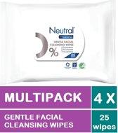 Neutral 0% Parfumvrije Make-Up Remover Wipes - Make Up Doekjes - 4 x 25 Stuks Voordeelverpakking