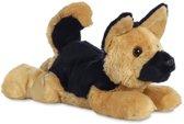 Aurora Knuffelhond Flopsie 30,5 Cm Bruin/zwart
