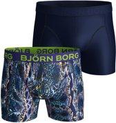 Bjorn Borg BB snake Heren Boxershort - 2P - Donkerblauw - Maat S