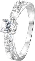Lucardi Ringen - Zilveren ring met zirkonia