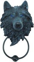 Dark Guardian, zwarte wolfenkop deurklopper zwart - Nemesis Now